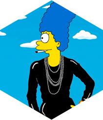Marge Simpson luce los vestidos más recordados de los últimos 100 años