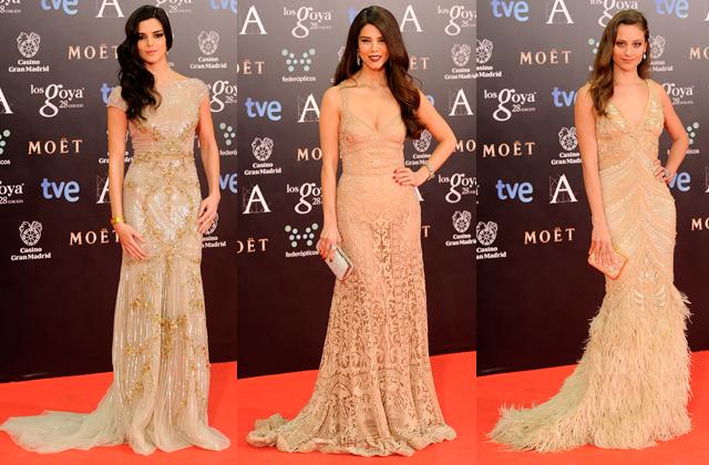 premios goya 2014 vestidos famosas paseo de gracia dorado2 Premios Goya 2014