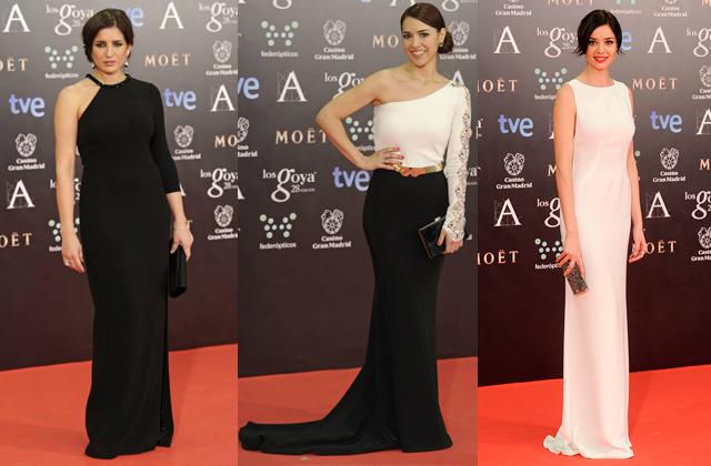 premios goya 2014 vestidos famosas paseo de gracia espaldas black and white4 Premios Goya 2014