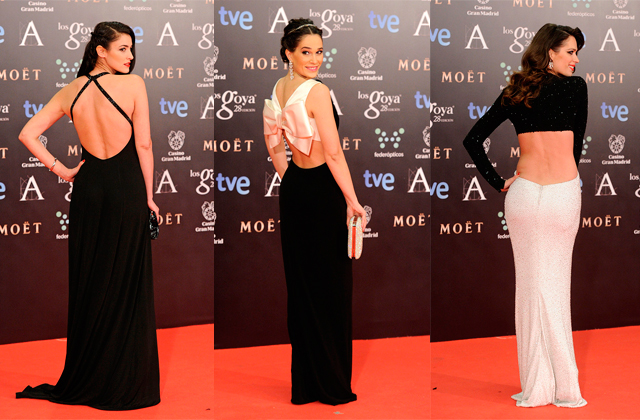 premios goya 2014 vestidos famosas paseo de gracia espaldas1 Premios Goya 2014