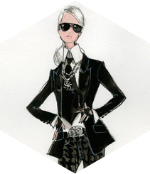 Barbie viste a lo Karl Lagerfeld