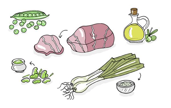 anna solsona receta3 paseodegracia 1 Guisantes con papada