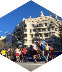 La apretada agenda del runner barcelonés