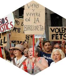 Barceloneta: esto es la guerra