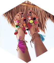 Las sandalias del verano
