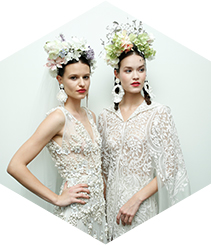El diseñador de las celebrities, Naeem Khan, en la Barcelona Bridal Fashion Week