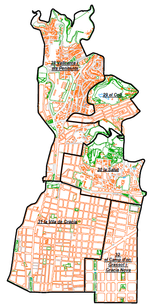 1 Un recorrido por los distintos barrios de Gràcia