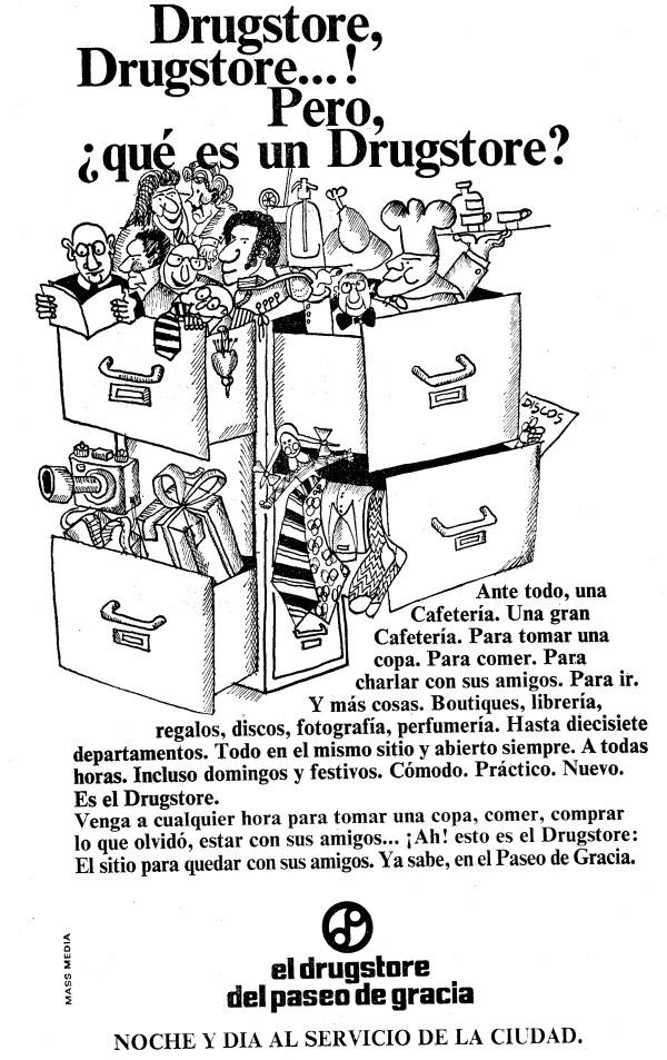 1 600x953 Recordando el Drugstore de Paseo de Gracia, 24 horas al servicio de Barcelona