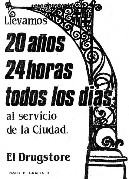 2 Recordando el Drugstore de Paseo de Gracia, 24 horas al servicio de Barcelona