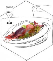 Un menú de hotel con estrella Michelín