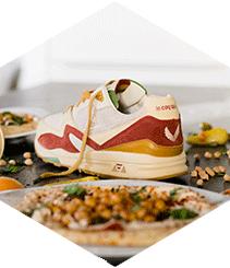 Le Coq Sportif se inspira en el hummus para su loca colaboración con Sneakerbox