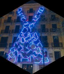 Santa Eulalia celebra sus 175 años con una performance urbana