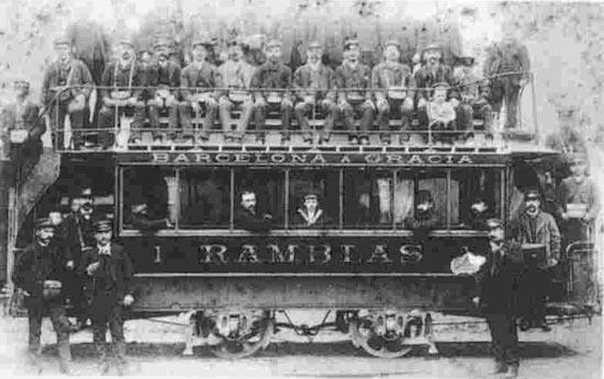 2 Los viejos tranvías de Barcelona