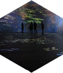 El nuevo Centro de Artes Digitales de Barcelona permite vivir en los cuadros de Monet